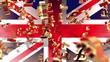Währung - britische Pfund - Flagge