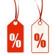 Anhänger mit Prozentzeichen