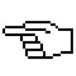 Pixelgrafik Hand - Zeigefinger