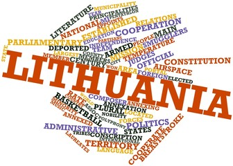 Word cloud for Lithuania