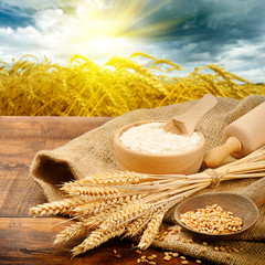Organic ingredients for bread preparation