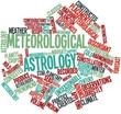 Постер, плакат: Word cloud for Meteorological astrology