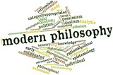 Word cloud for Modern philosophy poster