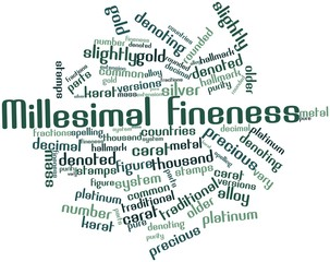Word cloud for Millesimal fineness