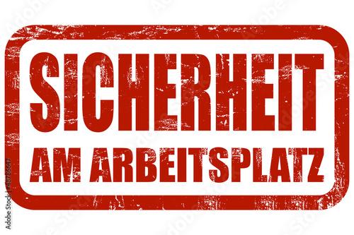 Grunge Stempel rot SICHERHEIT AM ARBEITSPLATZ
