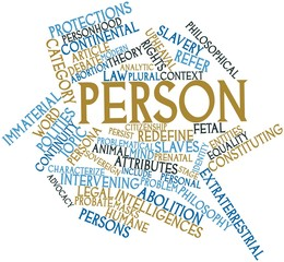 Word cloud for Person