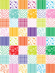 vector patchwork background