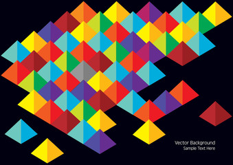 vector background with three dimensional pyramids