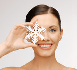 woman with snowflake