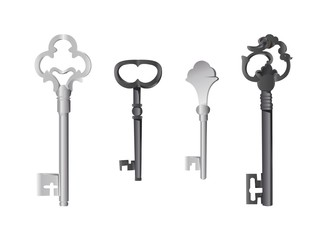 Metall Old-style key