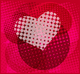 halftone heart background