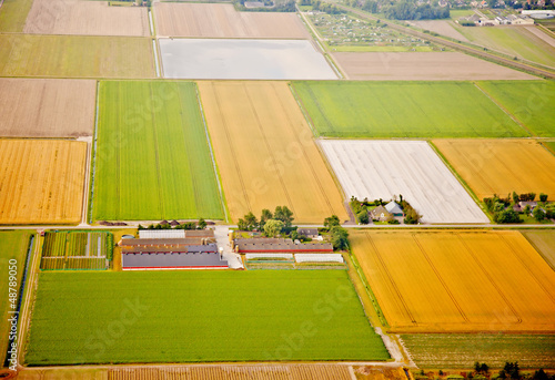 Farm landscape from above, The Netherlands