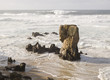 Seascape with a big rock
