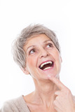 ältere frau beim lachen