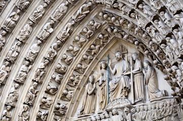 Le portail du Jugement Dernier de Notre-Dame de Paris - France