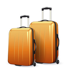 suitcases orange