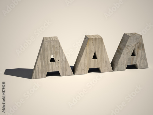 A letters in concrete