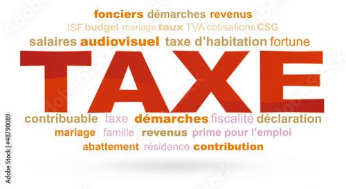 nuage de mots taxe