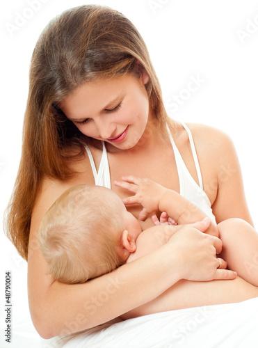 грудь во время кормления фото