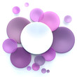 Pink, purple  and white circle background