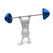 3D People holding Blue Weights