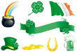 set icons for St. Patrick's Day