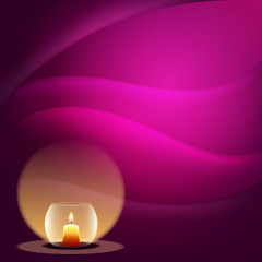 romantic background with candle