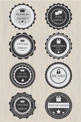 Retro badges set