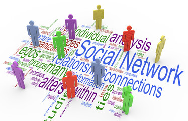 3d social network concept