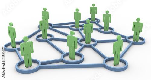 3d business community network
