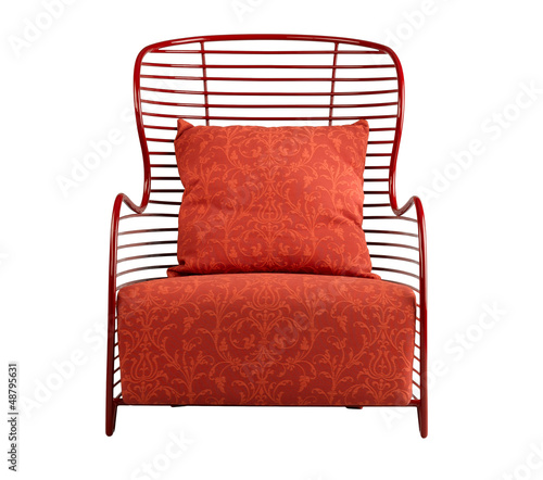 Beautiful red armchair nice for your living room