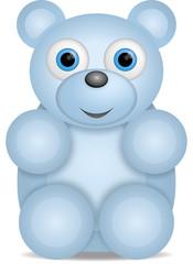 kleiner  blauer Teddybär