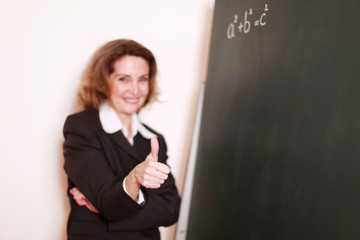 gut gelaunte Lehrerin