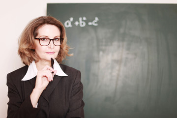 seriöse Lehrerin