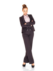 Beautiful tall smiling businesswoman