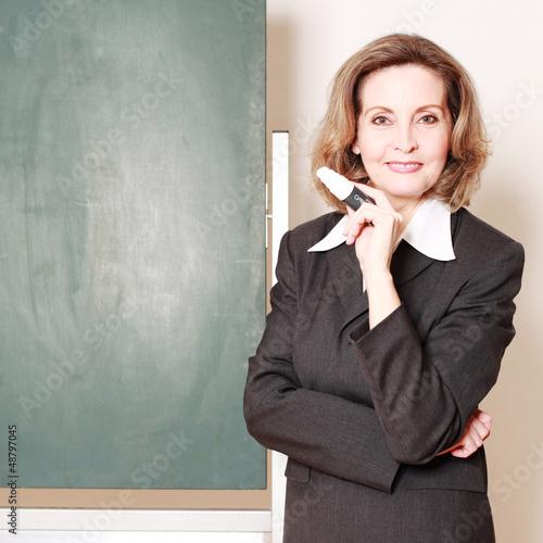 sympathische Lehrerin
