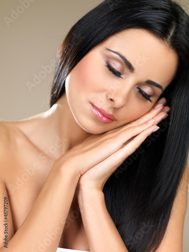 Beautiful young woman resting