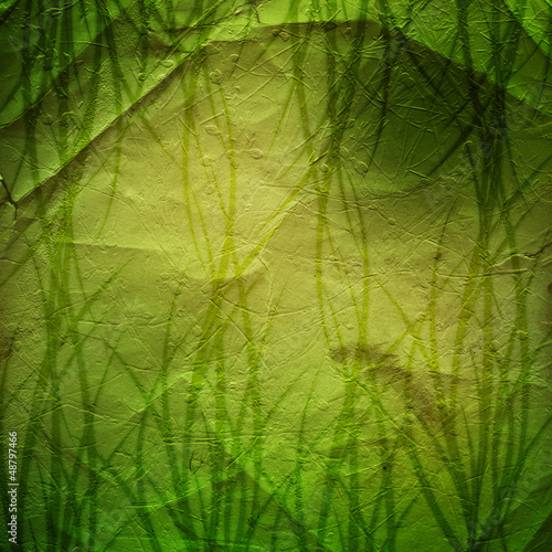 Grunge green background with ancient ornament for St. Patrick's