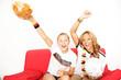 Frauen haben Spaß am Fußball