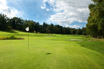 Golf course in the countrydise