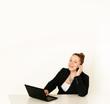Geschäftsfrau telefoniert