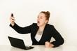 wütende Geschäftsfrau