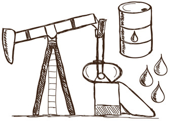 Oil - petrol  doodles