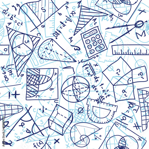 Mathematics seamless pattern