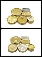 canned food (Close up top and underside)