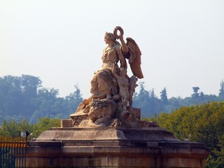 Statue of angel from gate of Versailles palace