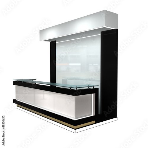 exhibition module with rectangular counter