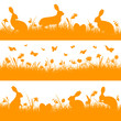 3 Orange Easter Header Meadow Bunny