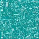 Physics seamless pattern poster