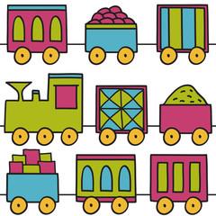 Trains seamless pattern